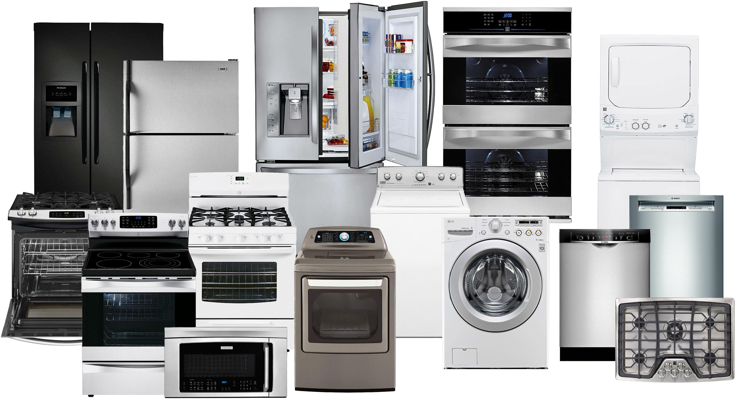 Pictures of appliances at home.